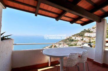 maison a vendre canyelles rosas espagne, parking, terrasse de 11 m² vue mer accès salon