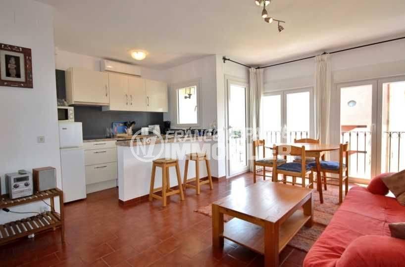 Immo center empuriabrava - Appartement empuriabrava belle pièce à vivre