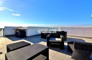 immo espagne costa brava: appartement ref.3694, vue mer, solarium 64 m²