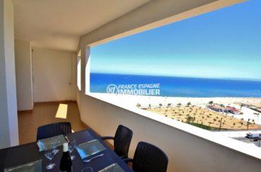 immobilier ampuriabrava: appartement 152 m², ref.3695,plage 50 m, vue mer magnifique