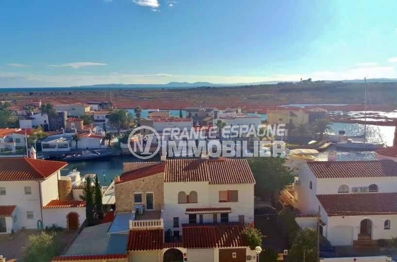 vente appartement espagne costa brava, ref.3694, solarium 64 m², vue panoramique ville de rosas