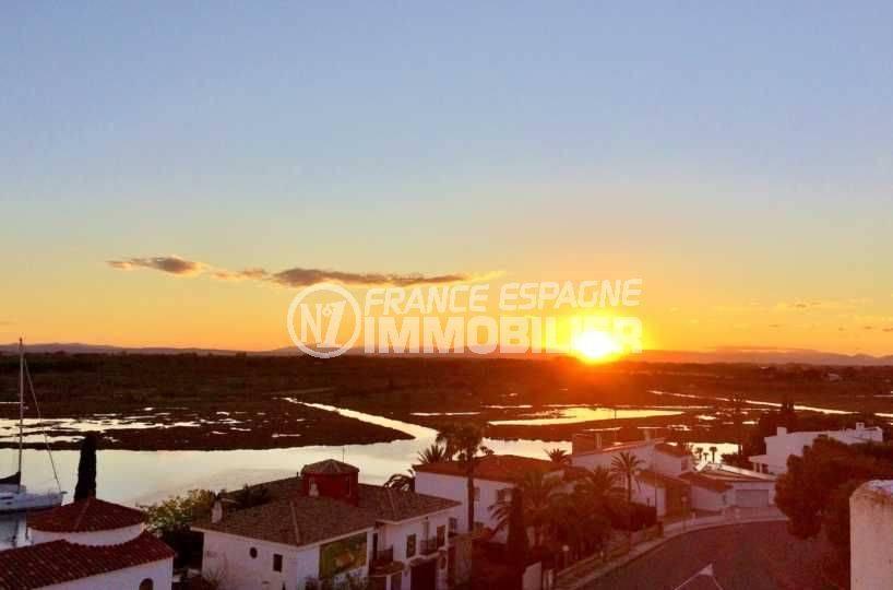 immobilier rosas espagne: appartement ref.3694, vue panoramique mer & parc naturel