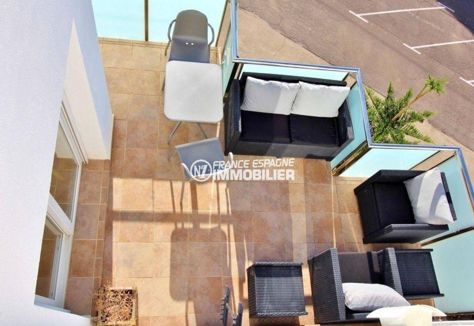 appartement a vendre rosas, ref.3694, terrasse 13 m², vue depuis le solarium