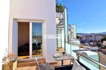 appartements a vendre a rosas: ref.3694, vue sur terrasse 13 m² vue mer, avec escalier montant au solarium 64 m²