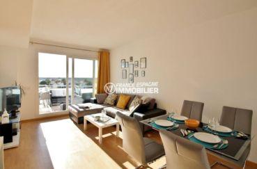 appartement a vendre a rosas, ref.3694, vue du séjour