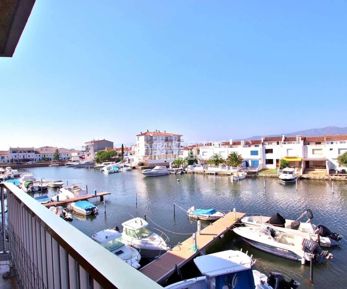 appartement Empuriabrava, terrasse vue canal