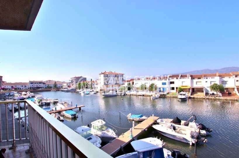 appartement Empuriabrava, terrasse vue canal