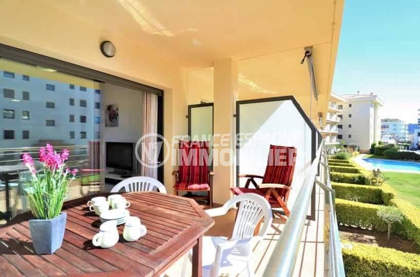 vente appartement rosas: ref.3718, grande terrasse