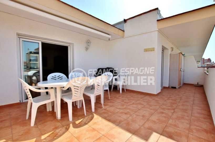 appartements a vendre costa brava: à santa margarida, atico, grande terrasse