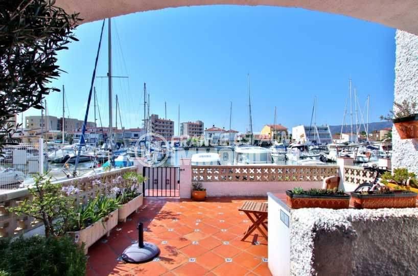 maison a vendre rosas- villa santa margarita, terrasse vue canal