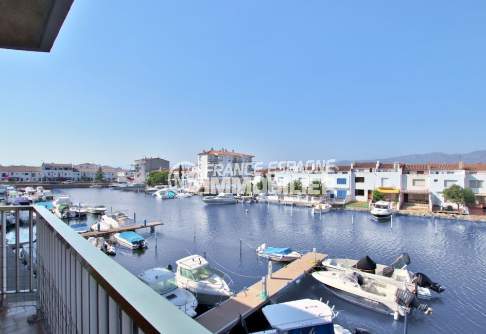 appartement empuriabrava, 2 chambres 54 m², terrasse vue canal