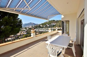 immo rosas ref 3713, villa grande terrasse vue mer, exposition sud ouest