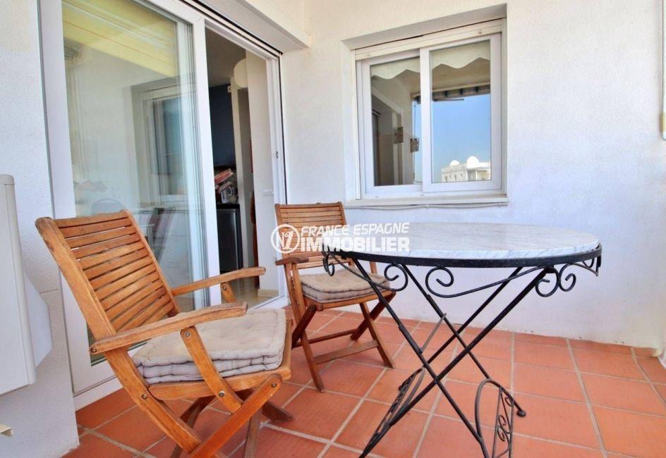 agence immobiliere rosas santa margarita - terrasse vue canal, piscine