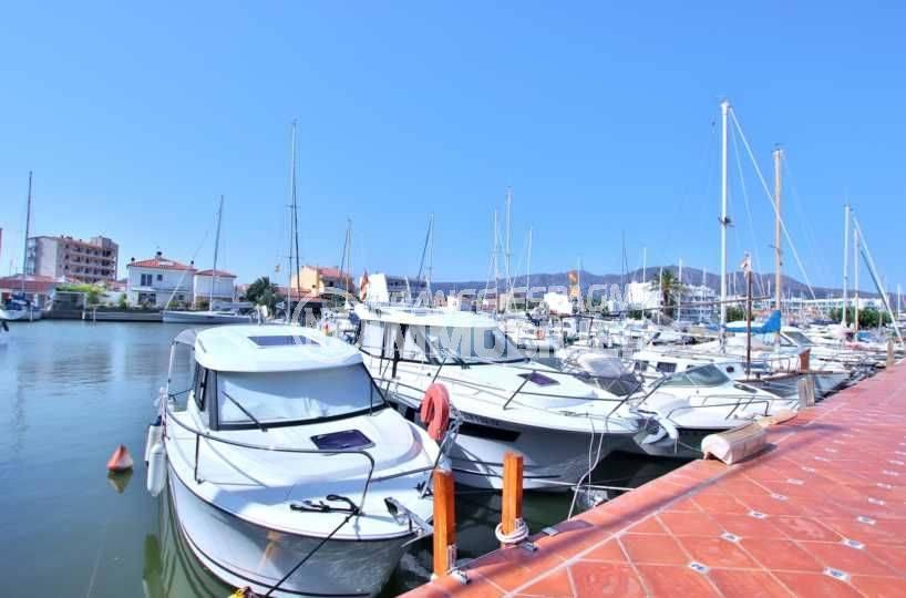 maison a vendre espagne costa brava: santa margarita, terrasse vue canal
