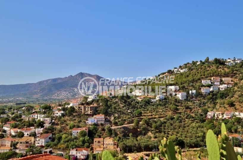 immobilier rosas, villa grande terrasse vue mer, exposition S/O