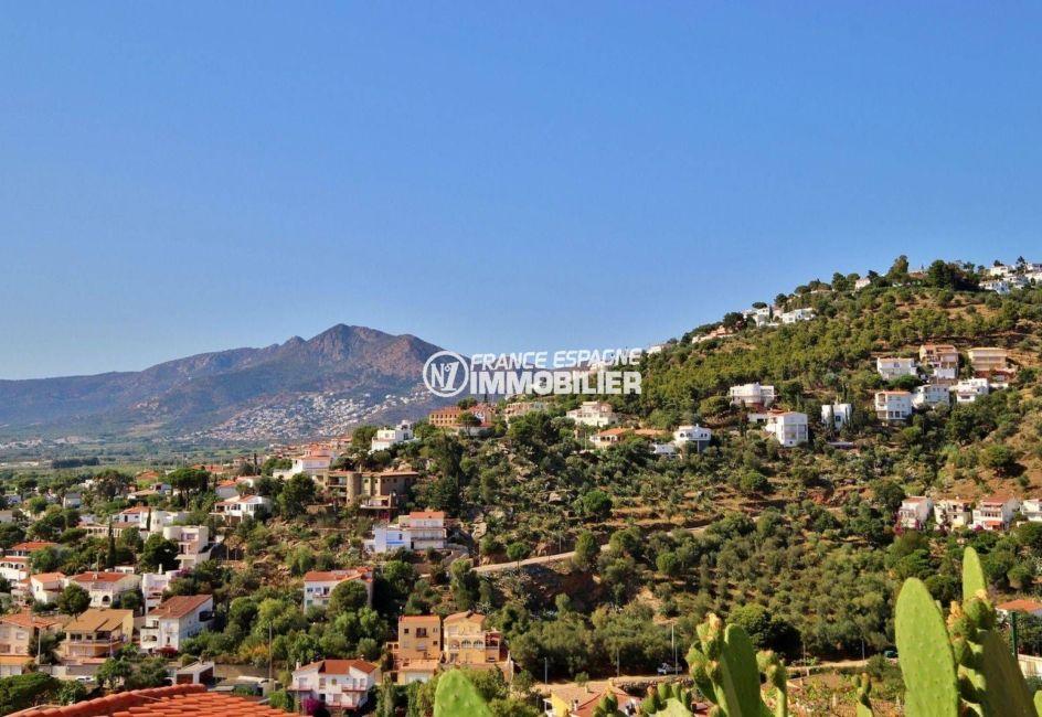 immobilier rosas ref.3713, villa grande terrasse vue sur les montagnes, exposition sud ouest
