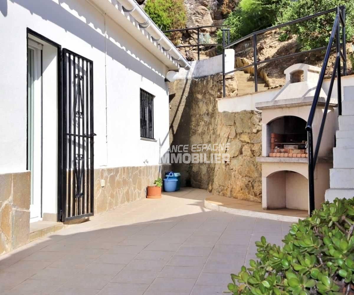 agence immobilière roses espagne: villa grande terrasse vue mer