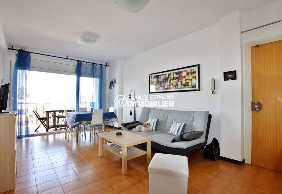 agence immobiliere francaise empuriabrava: terrasse 9 m² vue canal, 2 amarres