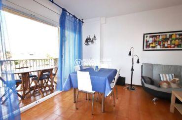 immobilier empuriabrava: terrasse 9 m² vue canal, 2 amarres