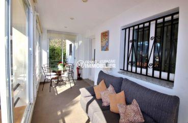 agence immobiliere roses espagne ref.3713: terrasse véranda de 15 m² vue mer