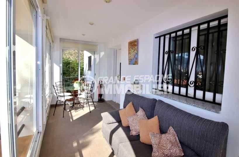agence immobiliere roses espagne: villa grande terrasse vue mer