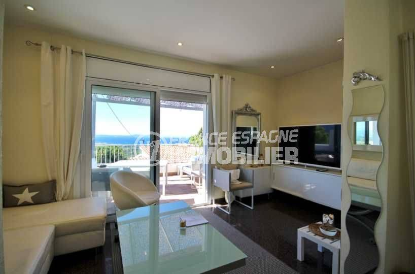 acheter en espagne: villa vue mer & piscine, 2 chambres + studio