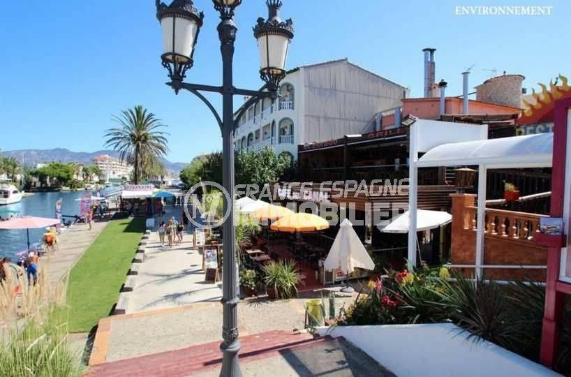 empuriabrava marina: appartement ref.3286, restaurants sur le canal