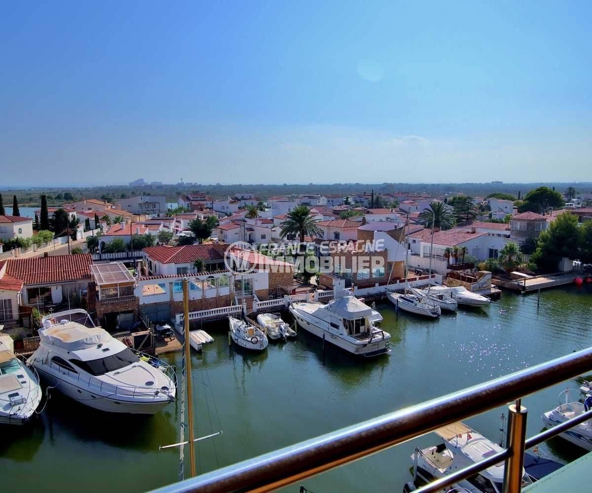 immo espagne costa brava: appartement ref.3745, Santa Margarida - vue mer / canal