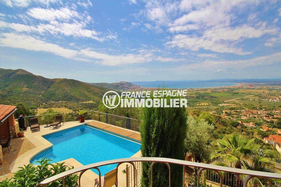 agence immobiliere costa brava: villa vue mer imprenable avec studio indépendant, piscine et parking