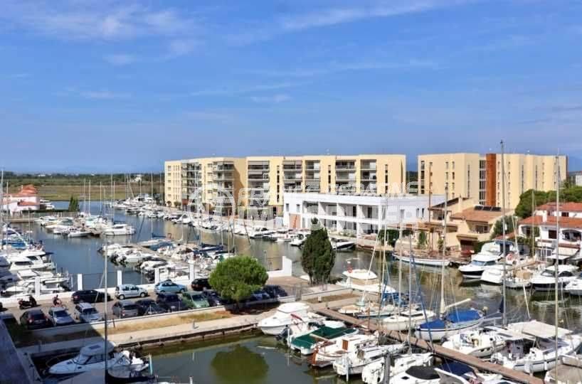 vente appartement rosas, proche plage, vue sur la marina depuis la terrasse
