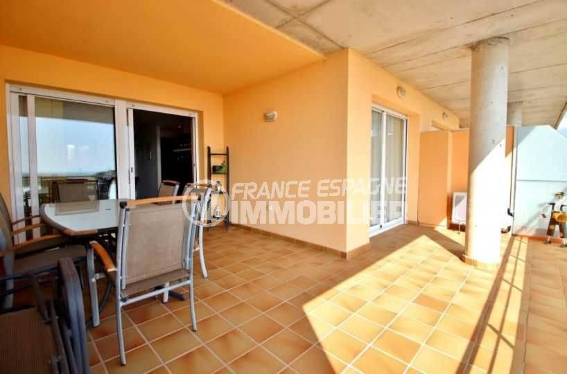 immobilier rosas espagne: appartement ref.3745, aperçu de la terrasse