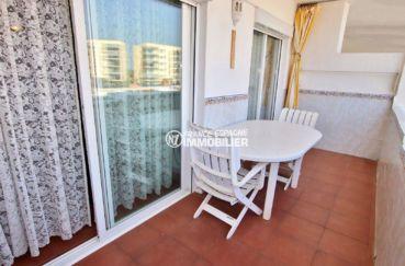 vente appartement rosas: la terrasse 12 m² avec vue sur la marina