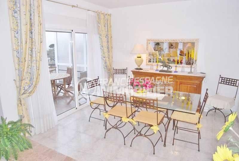 immo espagne costa brava: Jolie villa ref.377, vue salle à manger