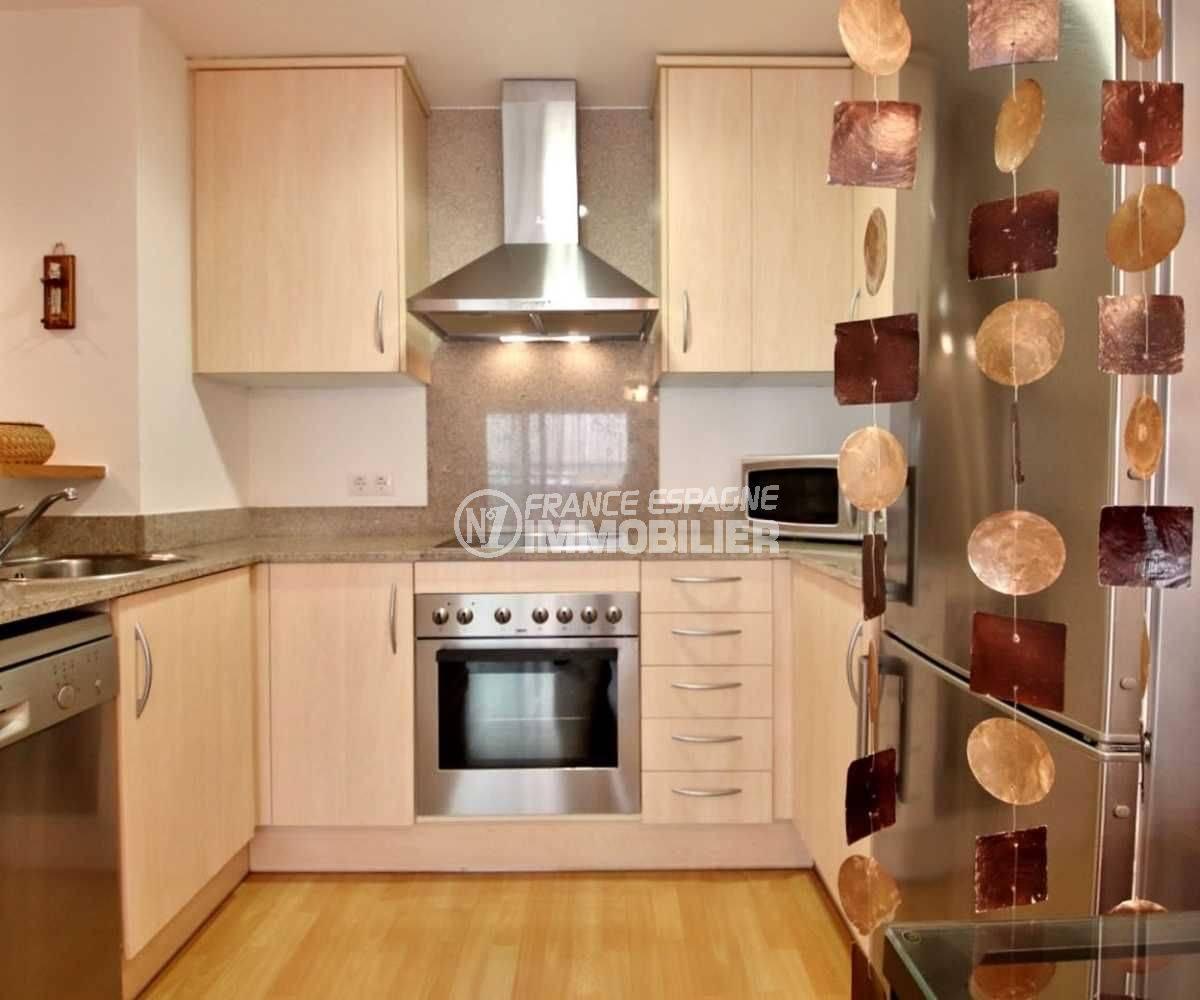 agence immobilière rosas: appartement ref.3748, cuisine américaine équipée