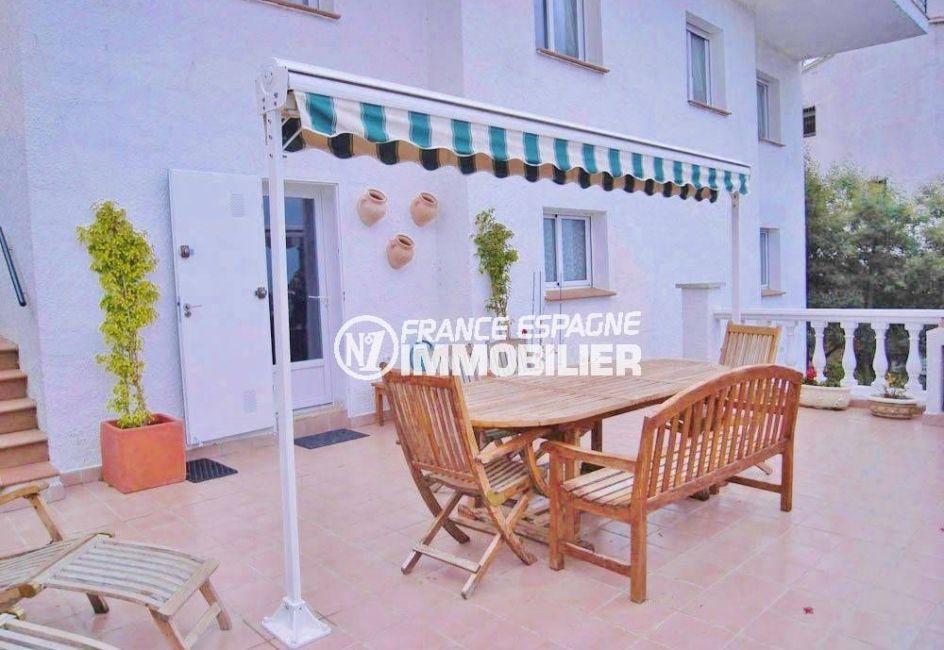 immobilier roses espagne: jolie villa ref.377, vue terrasse