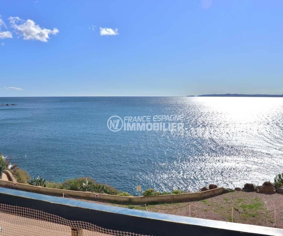 appartement a vendre rosas, ref.3761, superbe vue mer depuis la terrasse