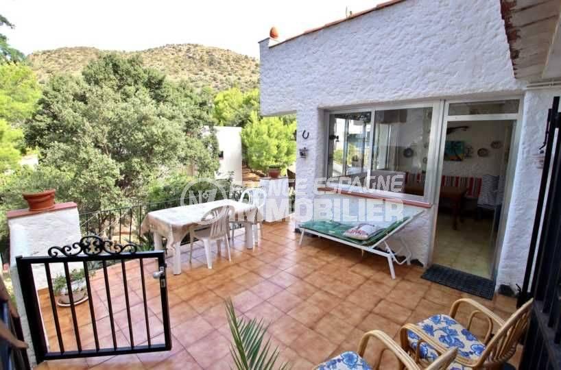 vente appartement rosas canyelles, ref.3767: grande terrasse ouverte 24 m²