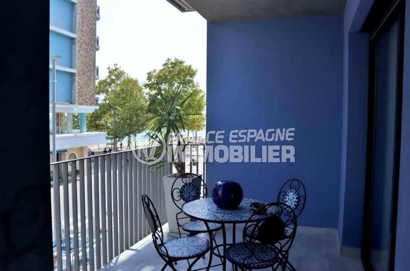 immobilier costa brava: appartement ref.3768, terrasse vue mer lateral