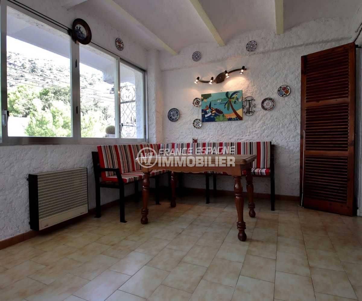 immo costa brava: appartement ref.3767, aperçu véranda avec accès depuis le séjour