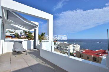 appartements a vendre a rosas, proche plage, grande terrasse de 59 m²  sublime vue mer
