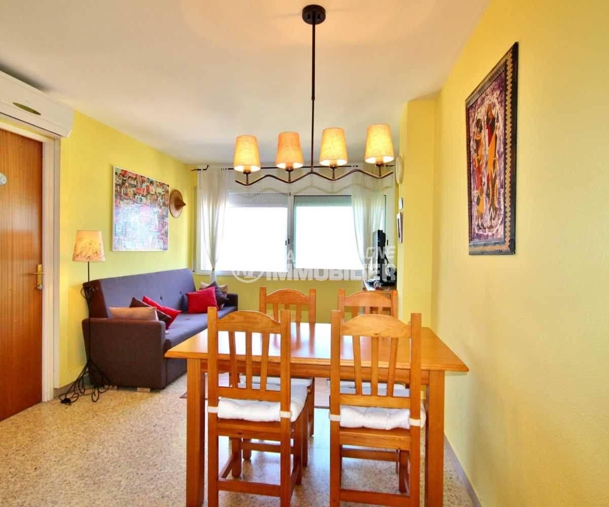 immobilier empuria brava: appartement 52 m² construitn, avec entrée, salle à manger/salon et 2 chambres