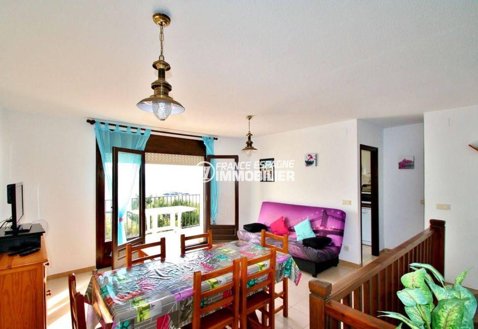agence immobiliere costa brava: villa 77 m², vue sur l'ensemble salon / séjour accès terrasse