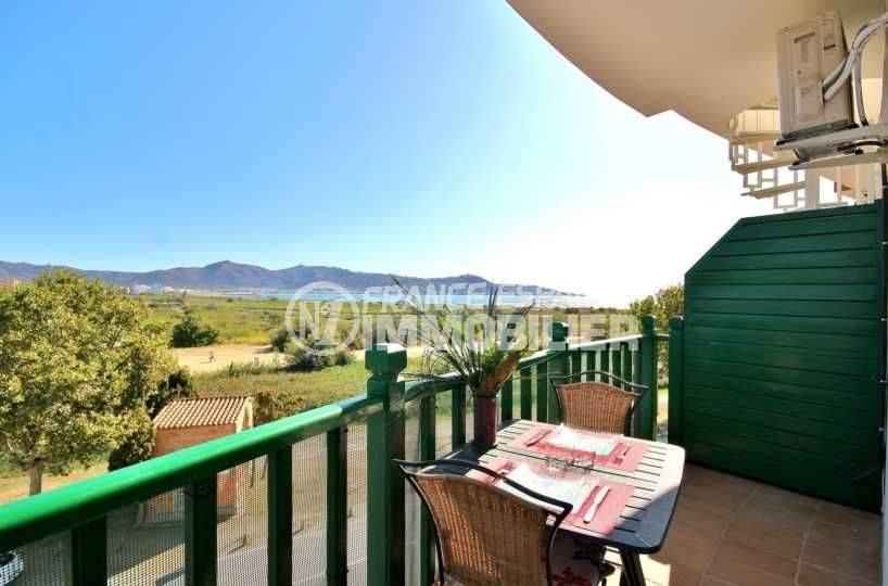 immo costa brava: appartement ref.3758, petit déjeuner sur la terrasse avec vue mer