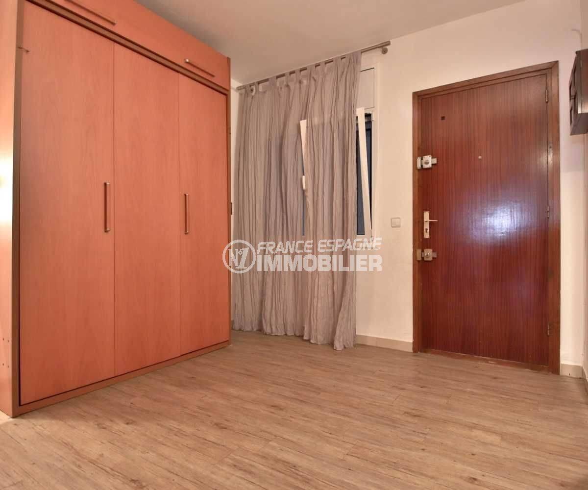 immo roses espagne: studio ref.3761, chambre avec lit double rangé