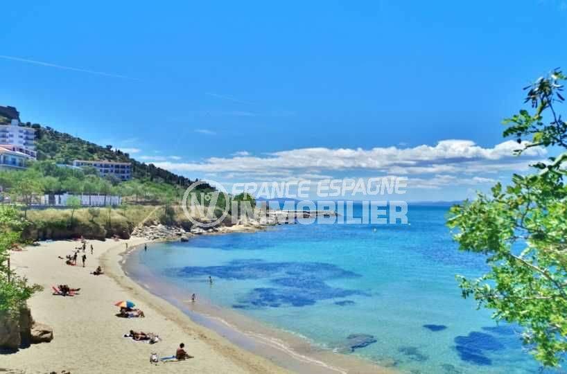 immo center roses: villa ref.2391, aperçu de la plage à 400 m