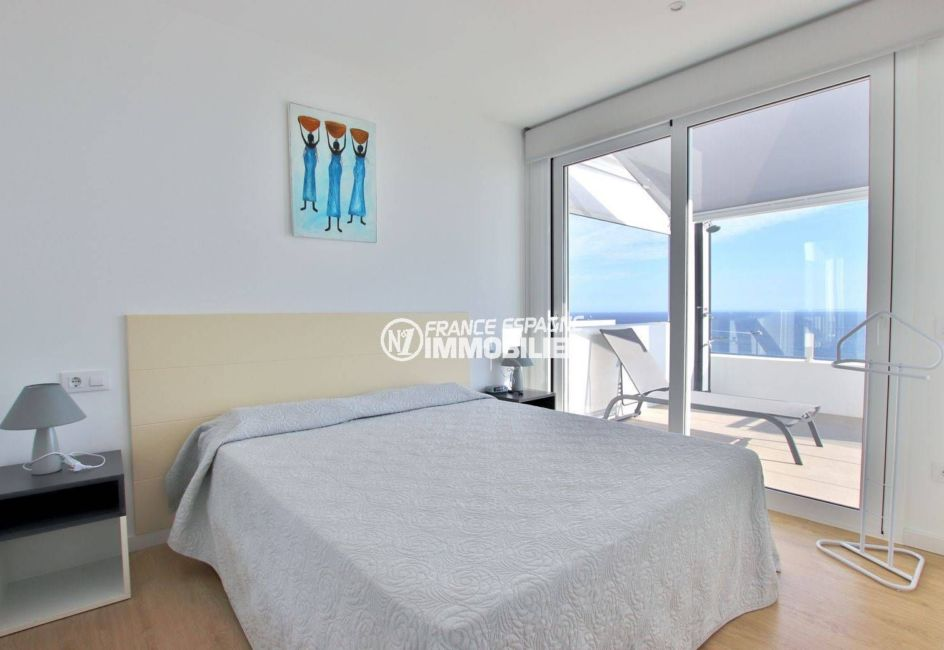 achat appartement rosas espagne, 99 m², première chambre avec lit double accès terarsse