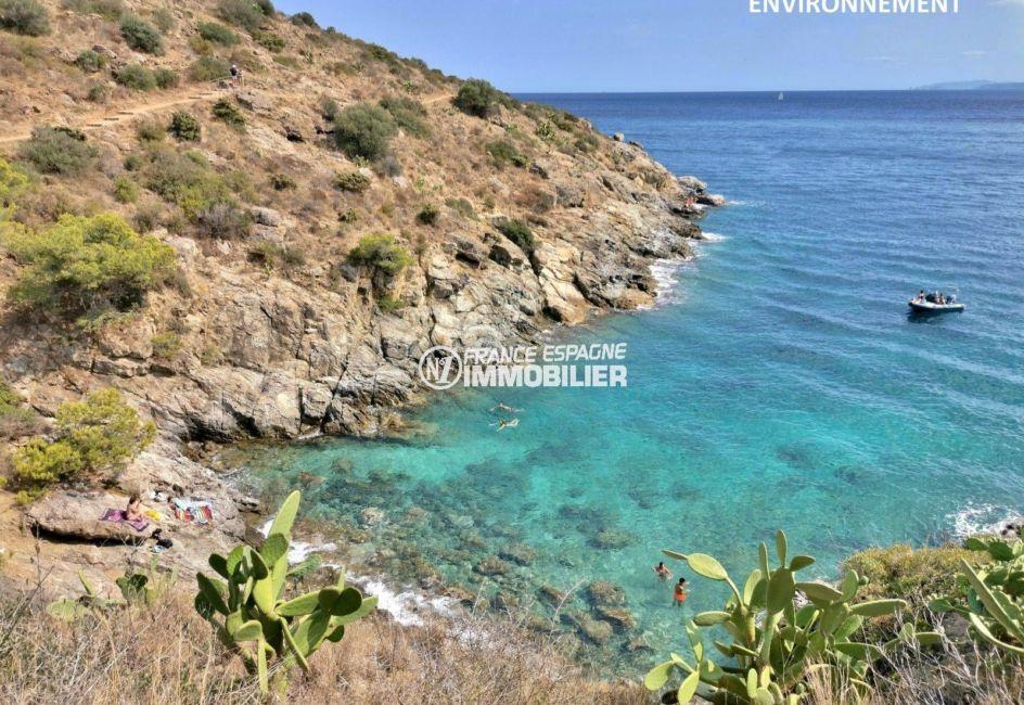 magnifique vue sur les falaises et la mer aux alentours