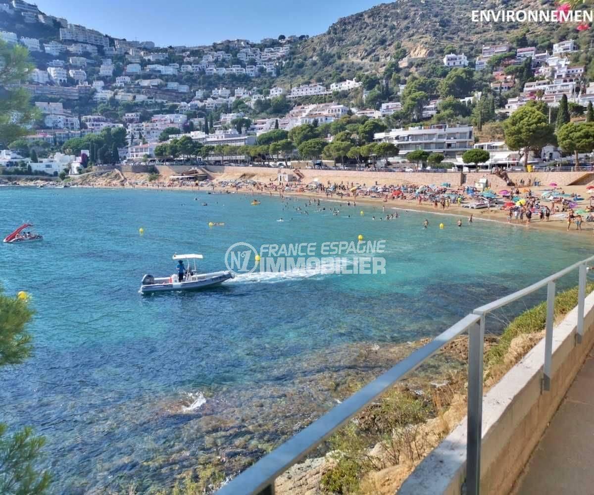 agence immo roses espagne: appartement ref.3767, aperçu de la plage de canyelles petites à 100 m
