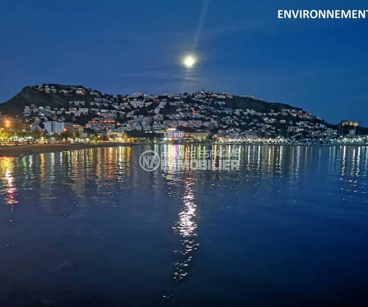agence immobiliere roses: appartement ref.3767, Puig Rom vue de nuit depuis Rosas, dans les environs