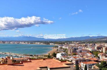 immobilier costa brava: appartement ref.3785, superbe vue sur la baie de roses depuis la terrasse